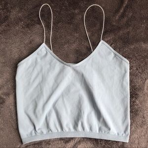 FREE PEOPLE BRAMI (BABY BLUE) CROP TOP